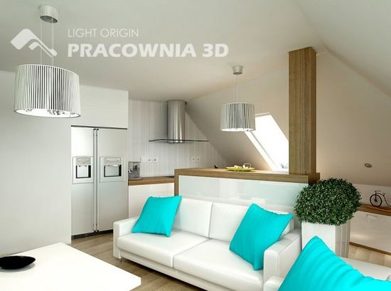 Comfortable Small Apartment Design by Pracownia 3D