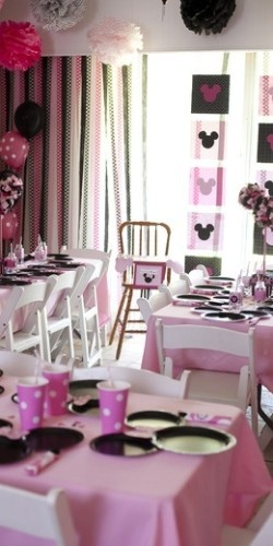 minnie mouse party. Paper backdrop