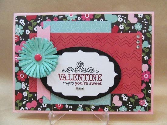 Savvy Handmade Cards: Handmade Valentine Card
