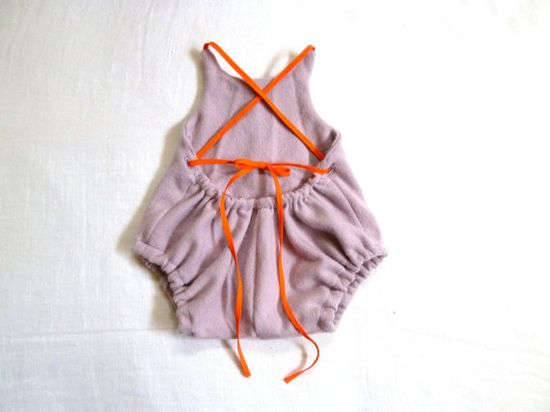 cashmere upcycled baby romper on etsy