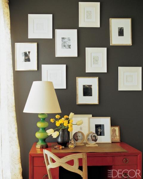 charcoal walls, office / livingroom