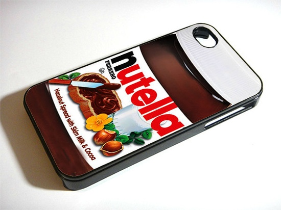 Nutella iphone 4 case, iphone case,  iphone 4s case, iphone 4s, iphone 4 cover, iphone hard case,  iphone 4, iphone. $19.95, via Etsy.