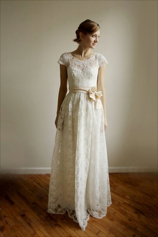 For the bride who loves lace.
