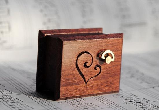 """handmade music box. plays """"Love Story"""""""