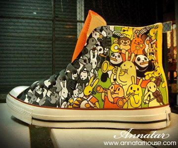 Hand Painted Converse Shoes
