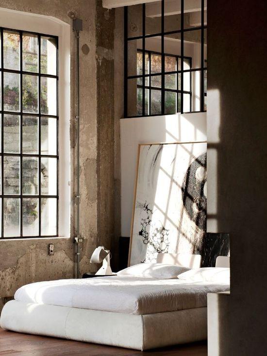 Industrial interior design / bedroom