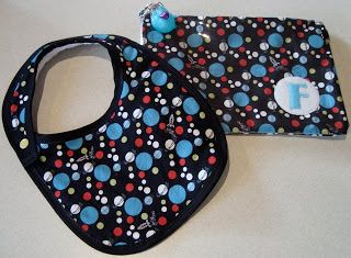 mousehouse: a bag and a bib for a baby boy