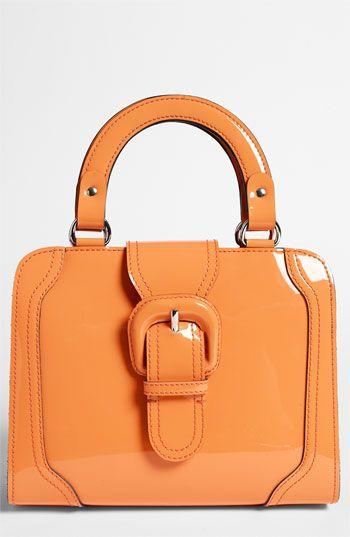 Marni Tangerine Patent Leather Structured Handbag~