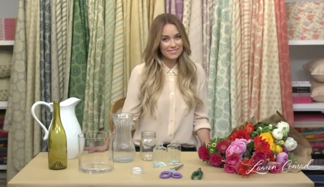 new video: flower arranging 101 #laurenconrad #craftycreations