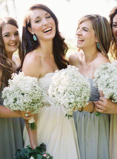 #babysbreath #bouquets Photography by brettheidebrecht.com, Flowers by www.malakoffnurse...  Read more - www.stylemepretty...