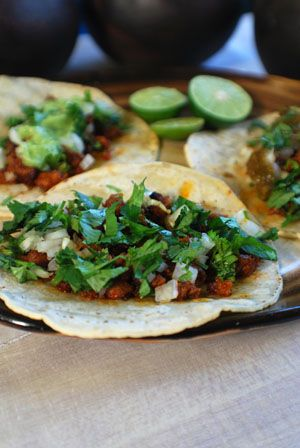 Chorizo tacos are delicious and FAST to make.  (This weekend, Fickle Creek Farms has chorizo.)