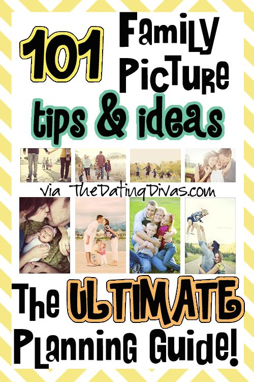 Everything from choosing your props, poses, and clothes...all the way to tips for looking good and getting your kids to cooperate.  PLUS a free printable picture planner! www.TheDatingDiva... #familypictures #freeprintable #datingdivas