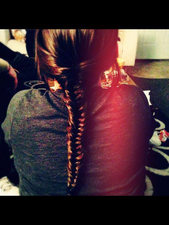 devin, fishtail, braid, hair, style