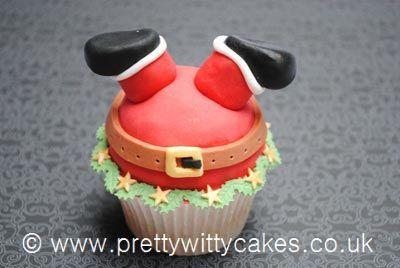 Santa cupcake by Pretty Witty Cakes