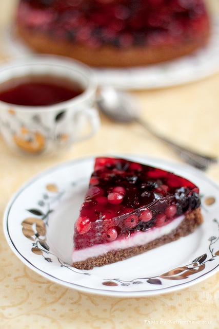 Nothing short of wonderfully pretty: Forest Berry Cheesecake
