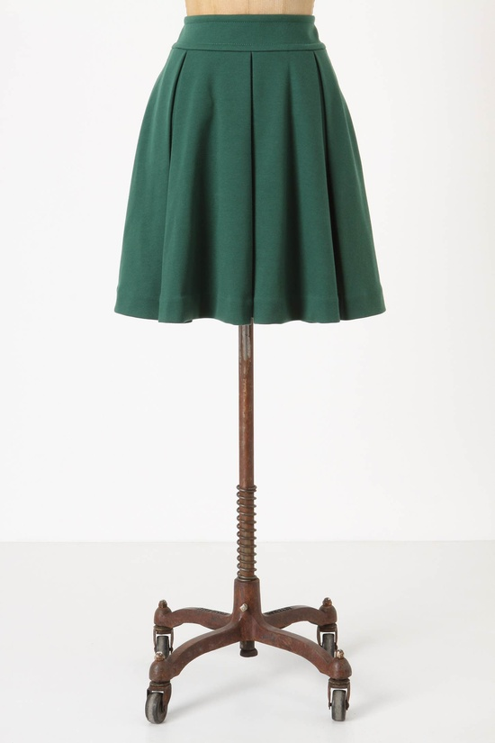 Pleated Ponte Skirt #Anthropologie
