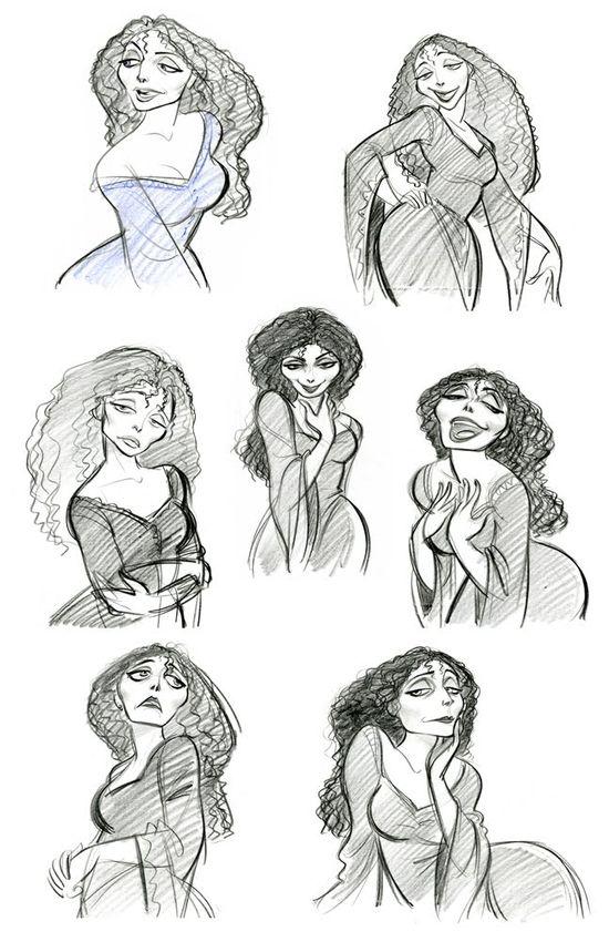 Rapunzel - Mother character design
