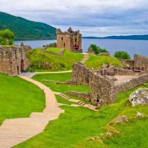 Castle ruins at Loch Ness, Scotland