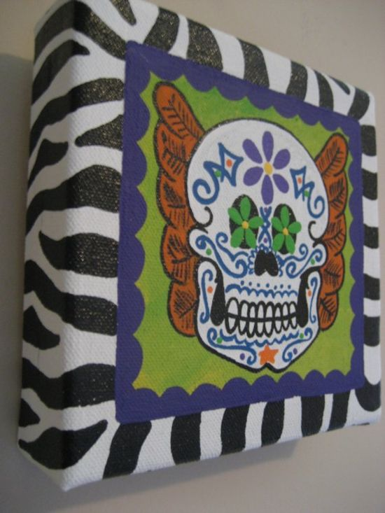 Dia de los Muertos Painting by jdavissquared on Etsy