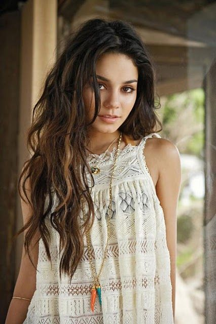 Love these beach waves on Vanessa Hudgens. and her color!