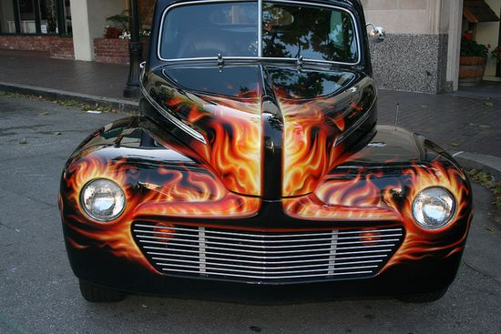 Custom Car Flames paint job