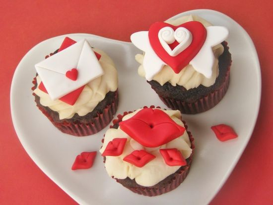 "Valentine's Day cupcake toppers but should be for just because ""I Love You"" also"