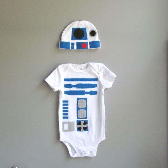 Where was this when I had my babies?!? Too cute!    Star Wars Baby - R2D2 Baby Clothes.