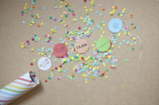 confetti invitation - or streamers?
