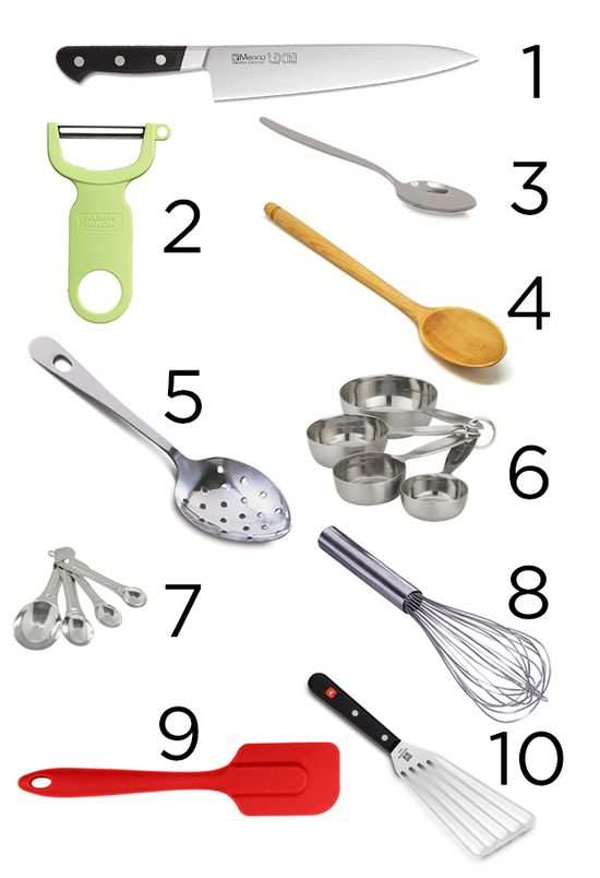 Keep these 10 most-used tools closest to where you cook. Get everything else out of the way.