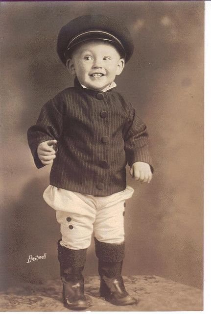 Vintage photo of little boy