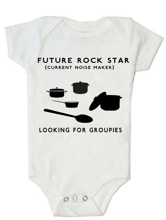 Funny Baby Onesie Funny Bodysuit Future Rock by FunnyBabyOnesie, $14.99