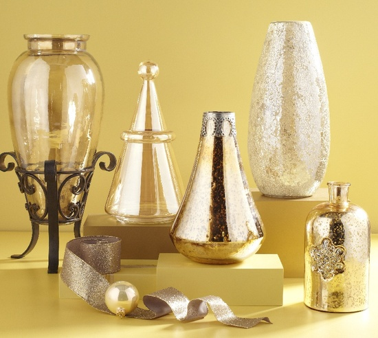Pier 1 has shiny and shimmery vases for every room