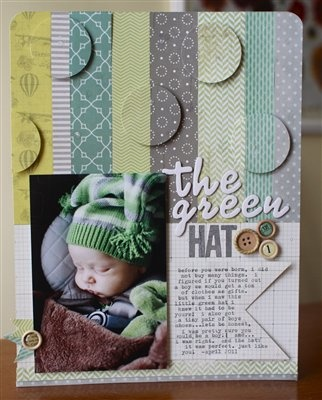 """The Green Hat"" by justem, as seen in the Club CK Idea Galleries. #scrapbook #scrapbooking #creatingkeepsakes"