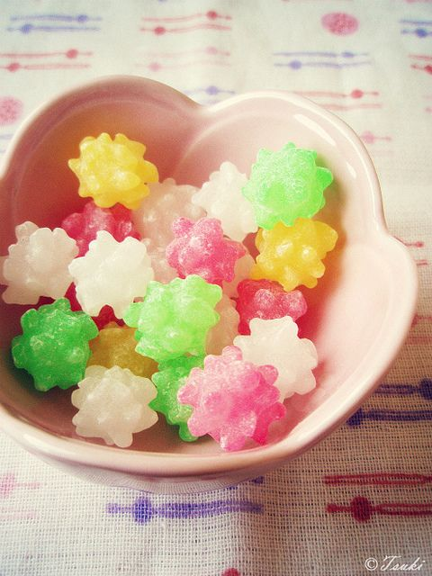 Japanese hard candies - Konpeito