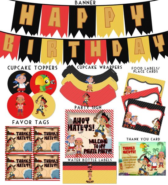 Jake and the Neverland Pirates Birthday by HeartsandScraps on Etsy