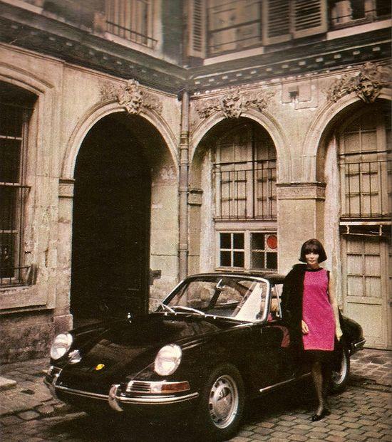 Porsche 911 & Juliette Greco in Pierre Cardin, 1967