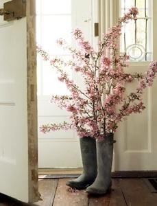 Flowers in wellies