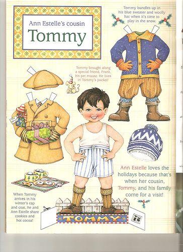 Ann Estelle paper doll Tommy