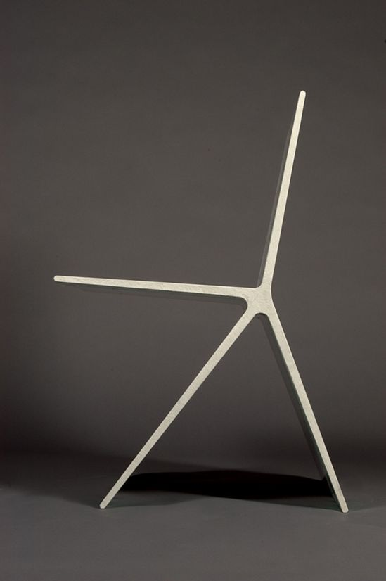 This is the sorta thing that makes me wish I were were an industrial designer // Concrete chair by Omer Arbel
