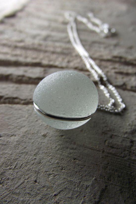 #sea #glass #beach #jewelry #necklace
