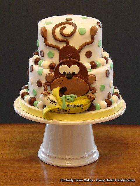 Monkey Cake by Kimberly Dawn Cakes, via Flickr
