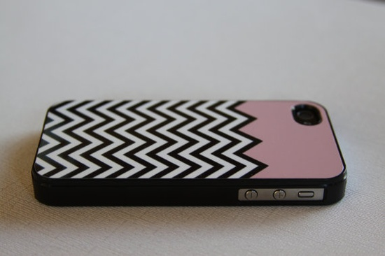 So cute! iPhone Case Pink Chevron. $12.00, via Etsy.