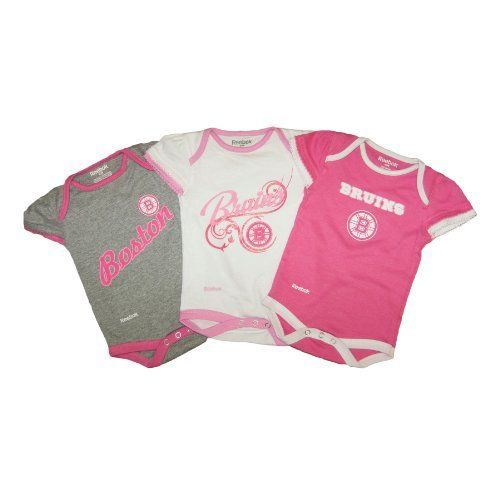 Boston Bruins Baby Girl 3-pc Foldover Neck Creeper Set Size 0-3 Months by Reebok. $30.00