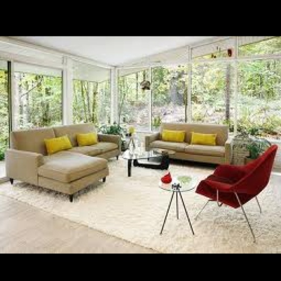 Awesome mid-century living room!