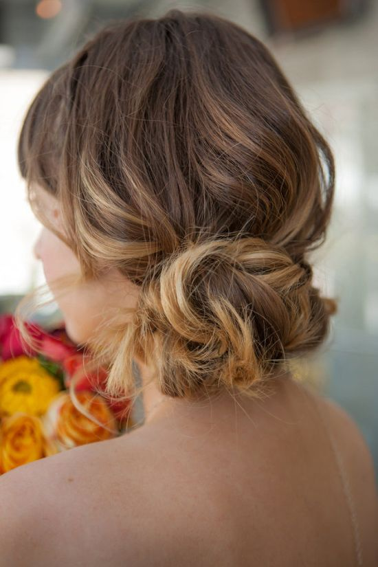 Love this natural #hair style!  From stylemepretty.com...  Photography by lilyredstudio.com, Event Styling by jayneweddings.com, Floral Design by forgetmeknodt.com