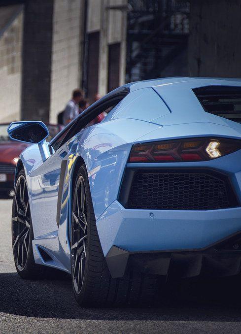 Baby blue Luxury Car