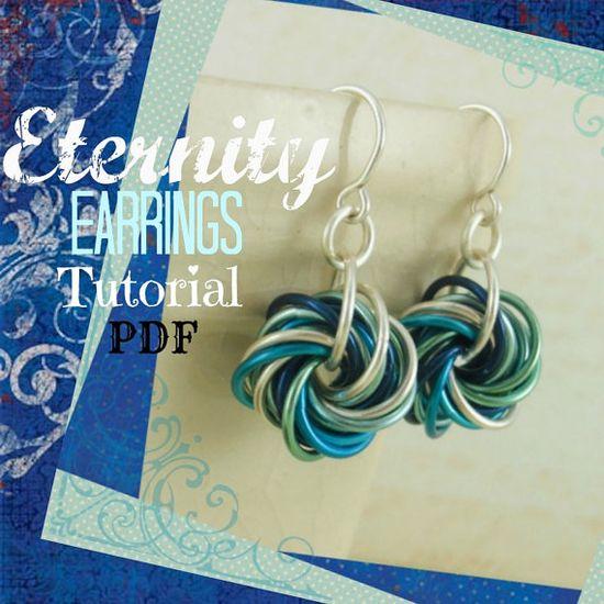 Eternity Earring Tutorial by UnkamenSupplies on Etsy, $3.00