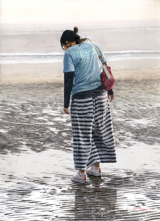 Monsanpo Beach, 36 x