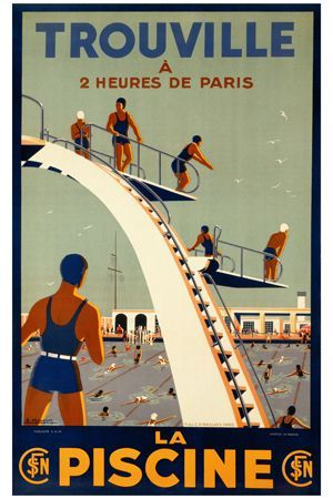 vintage pool poster