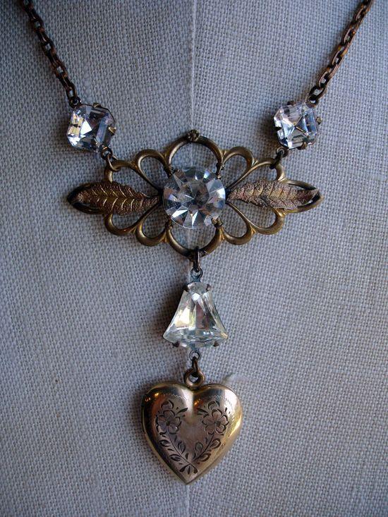 Melva, I Found Your Locket Repurposed Necklace. 120.00usd, via Etsy.